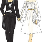 lesbian-wedding-tux-and-dress-300